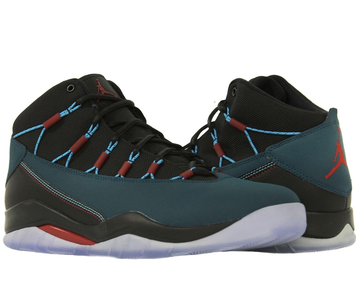 Men's Jordan Prime Flight Basketball Shoes Size 11, 616846 307 SEA/Blk/RD
