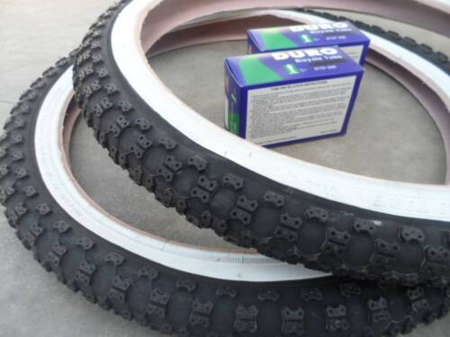"New BMX Bicycle Tires /& Tubes 20 x 2.125 Fits 1.75 1.95 White Wall BMX 20/"" Bike"