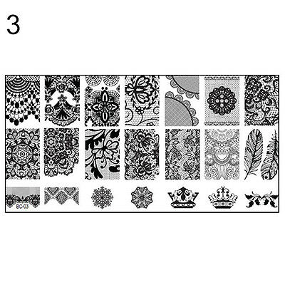 10 Sightly New DIY Nail Art Image Stamp Stamping Plates Manicure Template Tool