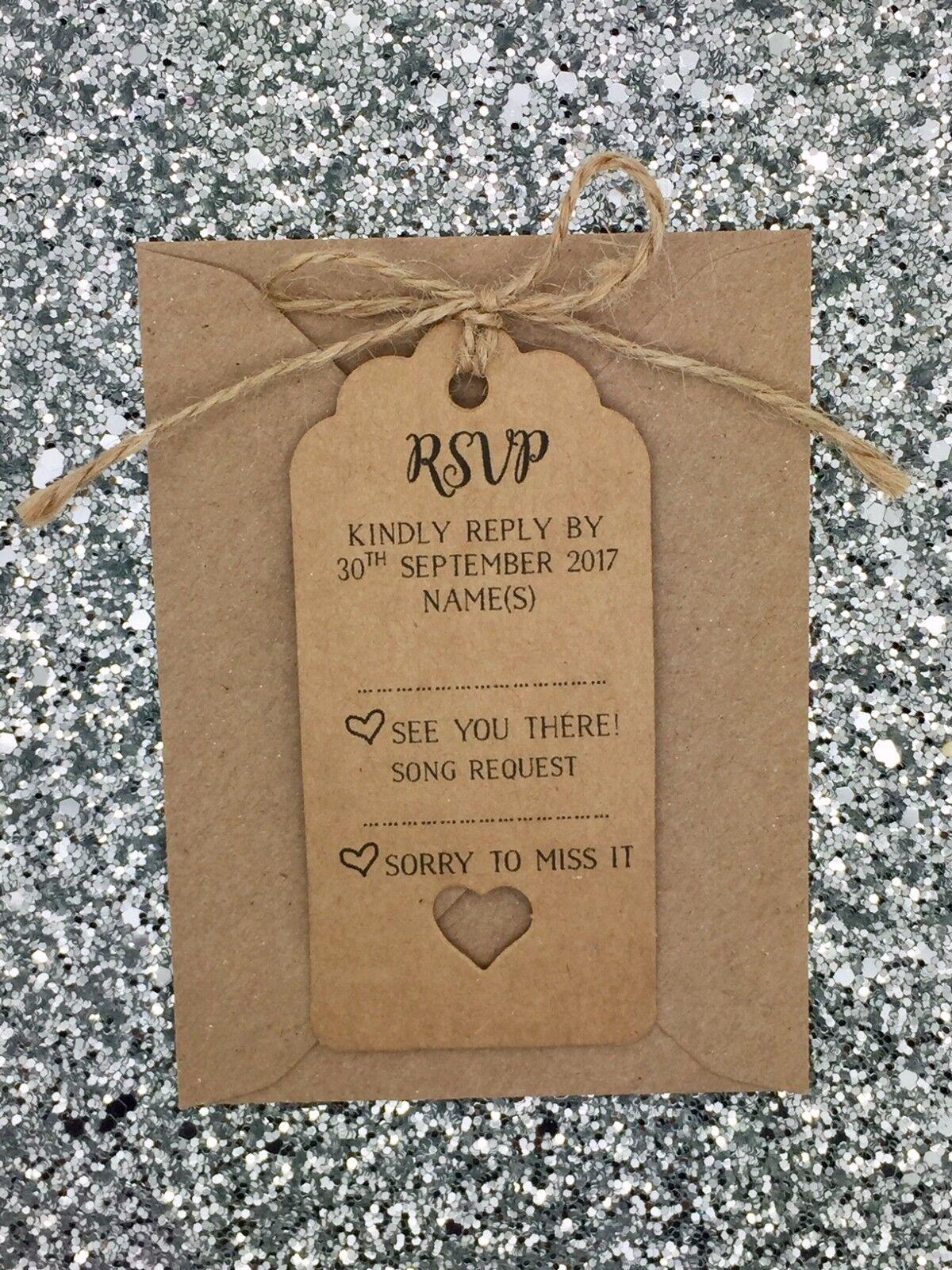 Rustique Mariage RSVP/chanson RSVP/chanson Mariage deFemmede carte cadeau Tag, personnalisé ba00a8