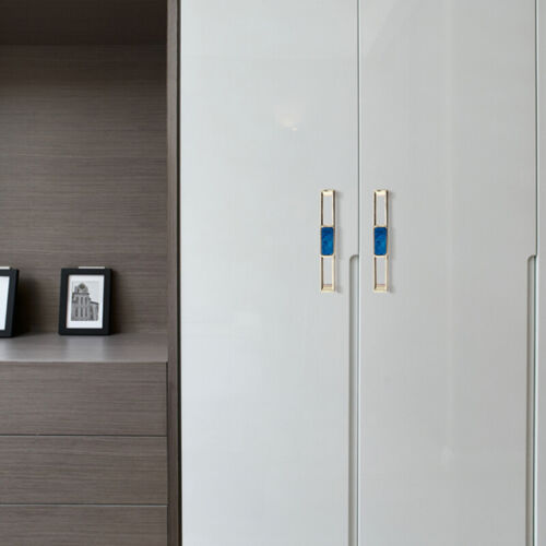 Drawer Handle Stone Shell Pattern Wardrobe Door Drawer Pulls Knobs Furniture A11