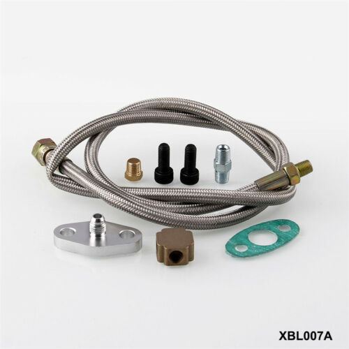 Durable 108cm Oil Feed Line Hose 1//8 NPT Adapter Fittings For T3 Turbo Charger