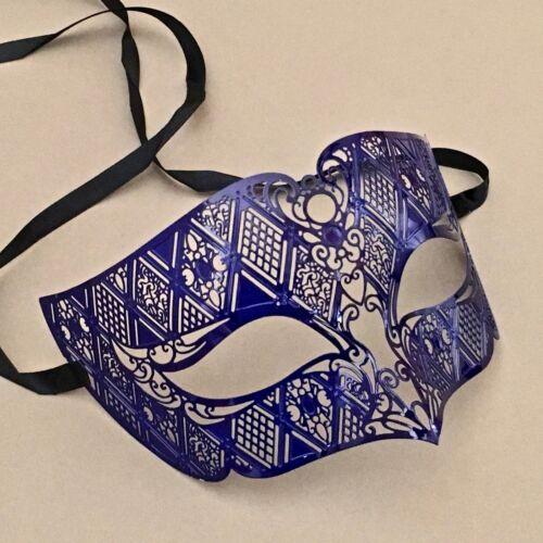Blue Masked Ball Dress Up Dancing Men Women Party Mask