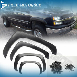 For 99-06 Chevy Silverado OE Factory Style Fender Flares Set of 4 Matte Black