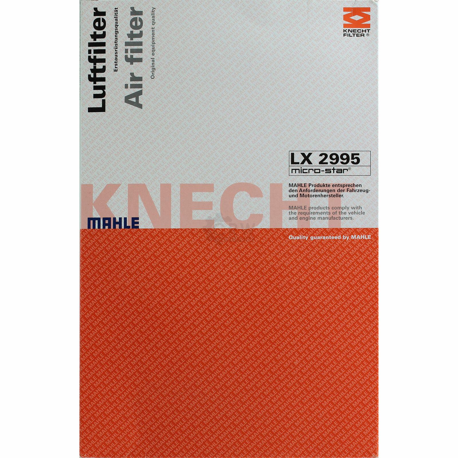 Filtro de aire mahle Knecht LX 3987