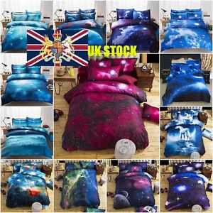 Galaxy Duvet Cover Pillow Case Quilt Cover Bedding Set Queen King