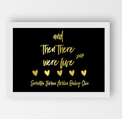Real Gold Foil Baby Poster Signage Personalised Pregnancy Announcement Print