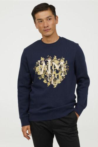 Marineblauw William H Ronde Uitverkocht bloemen hals Jumper m Morris Xs New Sweatshirt TnIxRET
