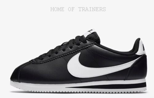 Girls Women's Trainers Sizes Cortez Classic Nike White Black All IaqzxwRwv