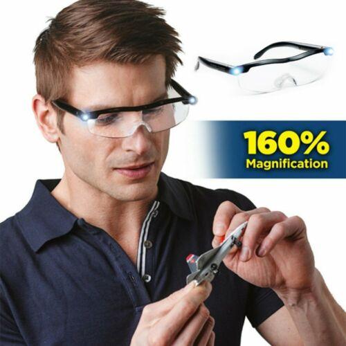 LED magnifying glasses loupes 160/% Magnifier glasses With Led Lighting Lamp JL