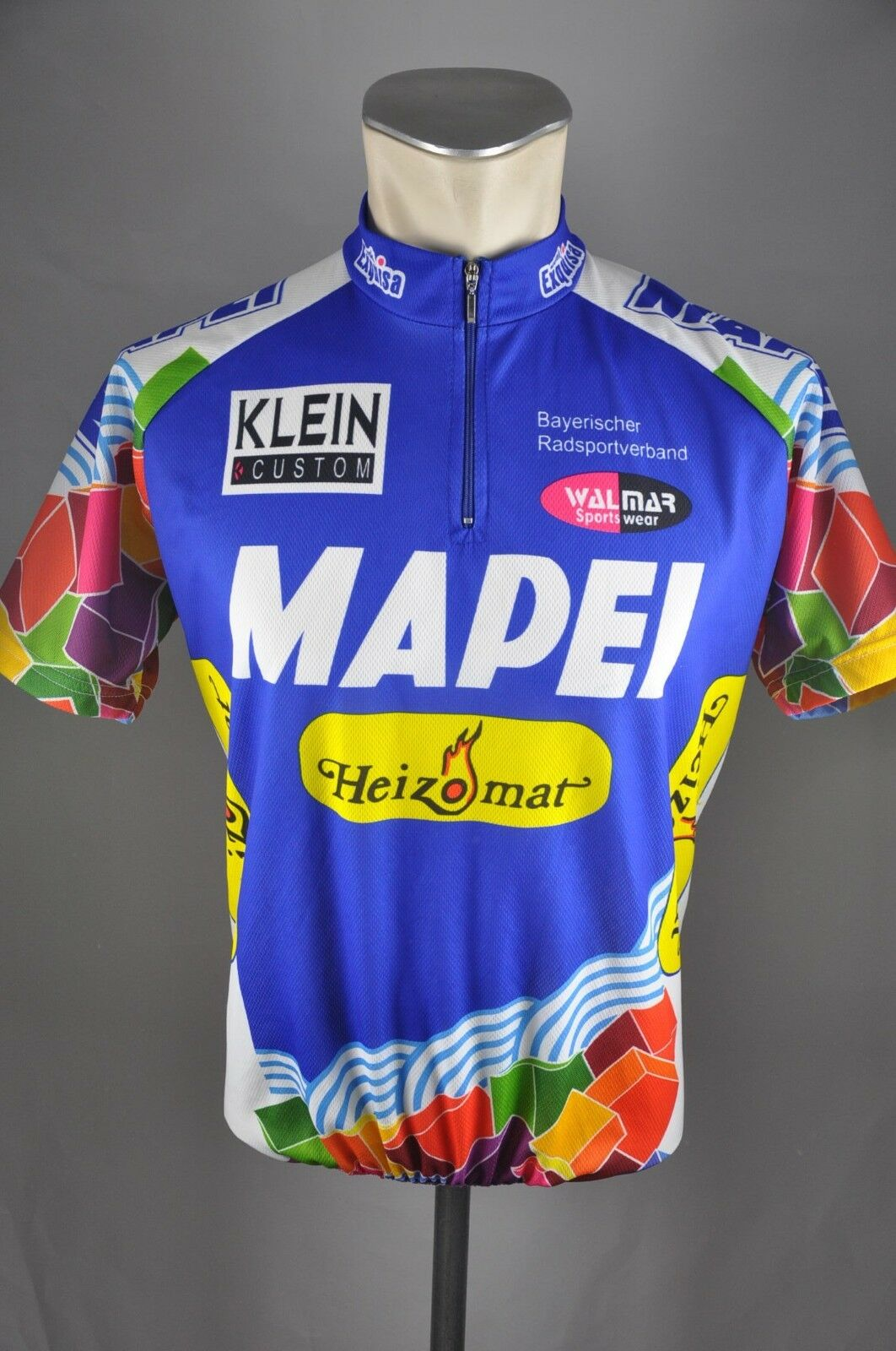 Mapei Bayerischer RSV Trikot Trikot RSV Gr. M 54cm Fahrrad bike maglia cycling jersey L2 5f8659