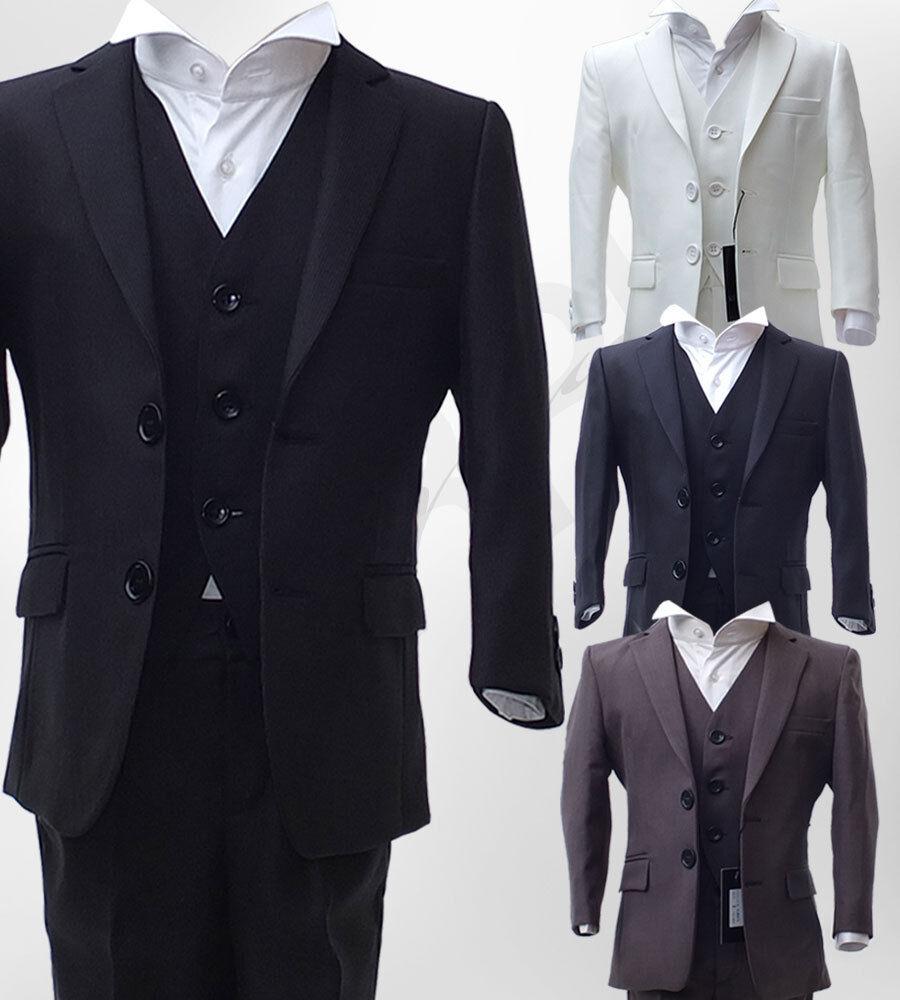 Boys Dark Grey Wedding Suits Pageboy Grey Ivory Gold