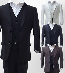 Image Is Loading Uk Boys 3 Piece Formal Pageboy Suits Communion