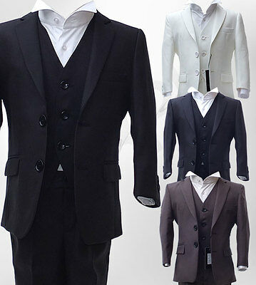 UK BOYS 3 PIECE FORMAL PAGEBOY SUITS COMMUNION WEDDING SUIT