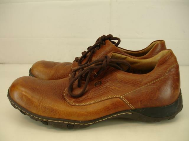 Mens 11.5 M Born Howard Jetty Tan Brn Leather Casual Dress Oxford shoes Lace-Up