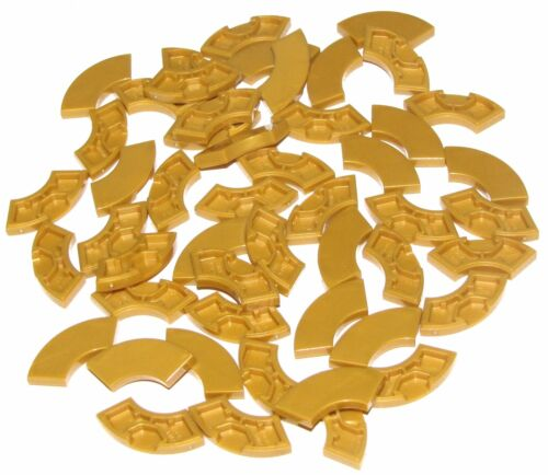 LEGO LOT OF 50 NEW 2 X 2 TILES PEARL GOLD CURVED SMOOTH TILES TILE MACARONI PART