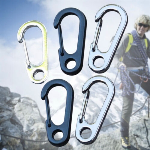 5x Stainless Release Keychain Keyring Carabiner Clip D-Ring Spring Hook New