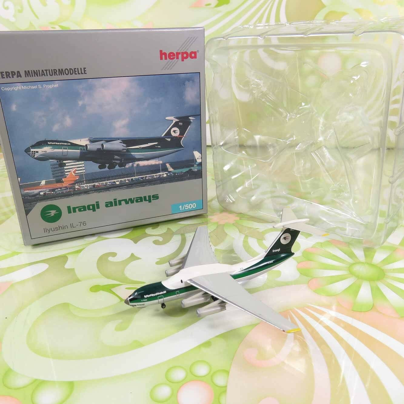 HERPA  513852 - 1:500 - Iraqi Airways Ilyushin IL-76 - OVP -   J11408