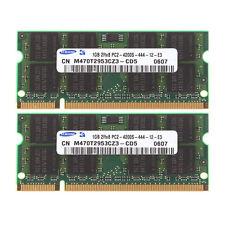 Samsung 2GB 2X 1GB DDR2 2RX8 PC2-4200S 533mhz 200pin SO-DIMM Laptop Memory RAM