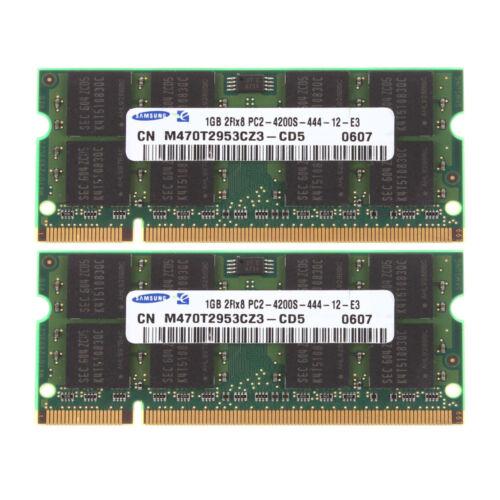 RAM For Samsung 2GB 2X 1GB DDR2 2RX8 PC2-4200 533mhz 200pin SODIMM Laptop Memory