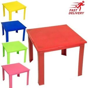 Strong Kids Children Table Plastic Foldable Study Home