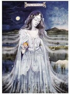 Pagan wiccan greeting cards lady of avalon wendy andrew goddess image is loading pagan wiccan greeting cards lady of avalon wendy m4hsunfo