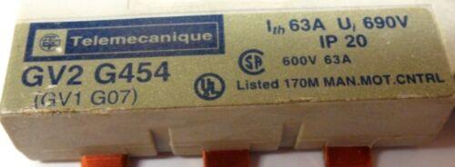 63A TELEMECANIQUE MANUAL STARTER BUSBAR GV2 G454 600V