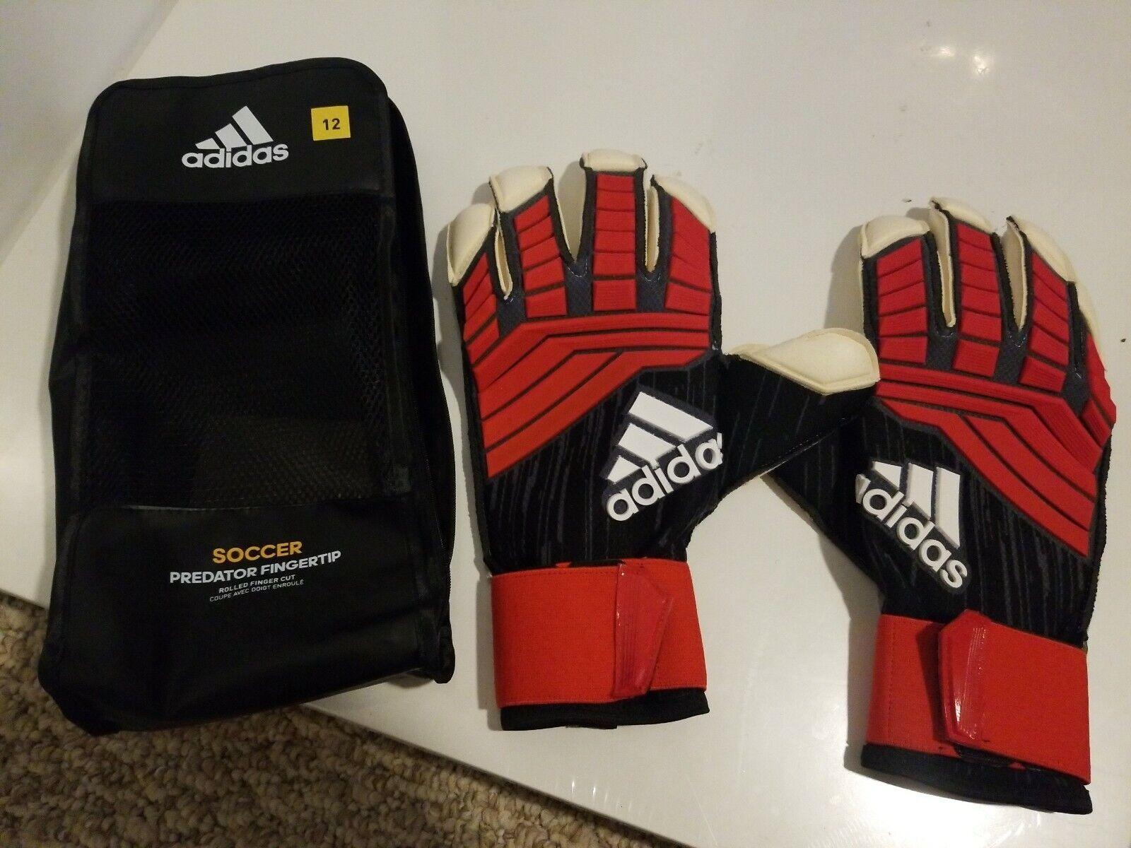 Adidas Fútbol Projoator yema del dedo GK Guantes de portero CW5631 Sz 12 Negro Rojo