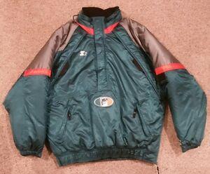 d587ec42 Details about Miami Dolphins Starter Jacket Rare Vintage Pro Line NFL  Football Pullover Sz XL