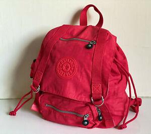 NEW-KIPLING-JOETSU-CAYENNE-RED-BACKPACK-SCHOOL-TRAVEL-BAG-PURSE-104-SALE