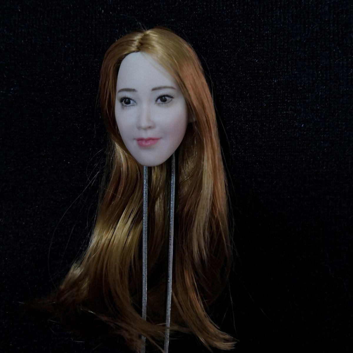 1   6 asiatischen star kopf sculpt geschnitzt modell passen 12  phicen weiblichen figur körper spielzeug