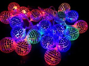 Christmas Disco Ball.Details About 20pc Christmas Decoration Lights Led Disco Ball Light Multi Colour 4m Long