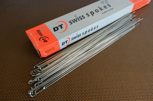 DT Swiss COMPETITION wheel Spokes nipples SILVER Spoke 2.0// 1.8 x 284 WHOLESALE