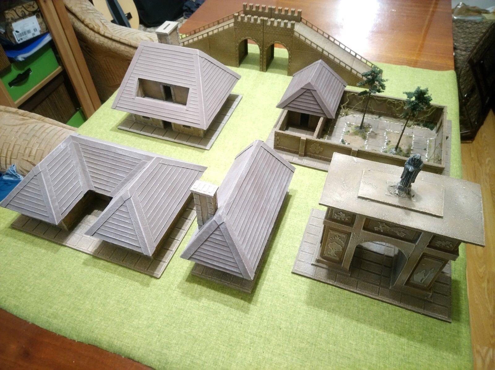 Mesa De Miniatura Casa Set Terrane de juegos de 28 mm. frostgrave Warhammer FB Hobbit