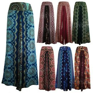 New-Ladies-Wide-Leg-Pants-Palazzo-Sarong-Bohemian-Gypsy-Hippie-Trousers-Wrap-WP