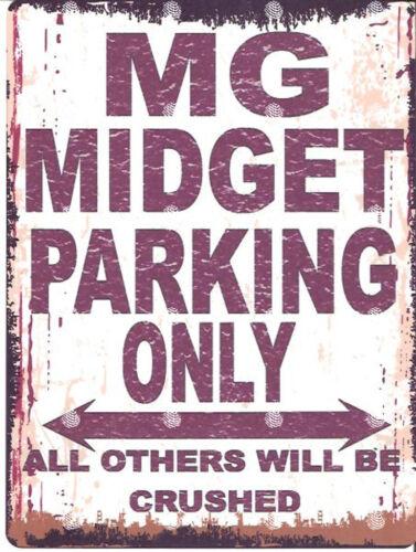 MG MIDGET PARKING SIGN RETRO VINTAGE STYLE 8x10in 20x25cm garage workshop art