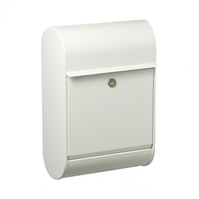 Allux Briefkasten 8900H, Weiß   extra großer Innenraum