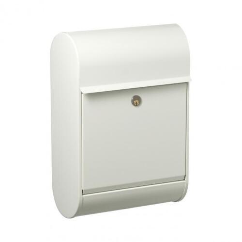 Weiß extra großer Innenraum Allux Briefkasten 8900H