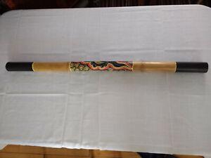 Volontaire Bamboo Didgeridoo Traditionnel Dot Peint 120 Cm Instrument Musique-afficher Le Titre D'origine