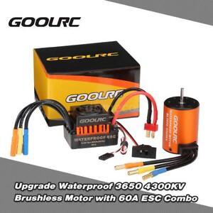 New-GoolRC-3650-4300KV-Brushless-Motor-60A-ESC-Combo-Set-for-1-10-RC-Truck-Car