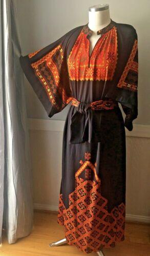 VINTAGE GOTTEX black orange CAFTAN SWIM BEACH COVE
