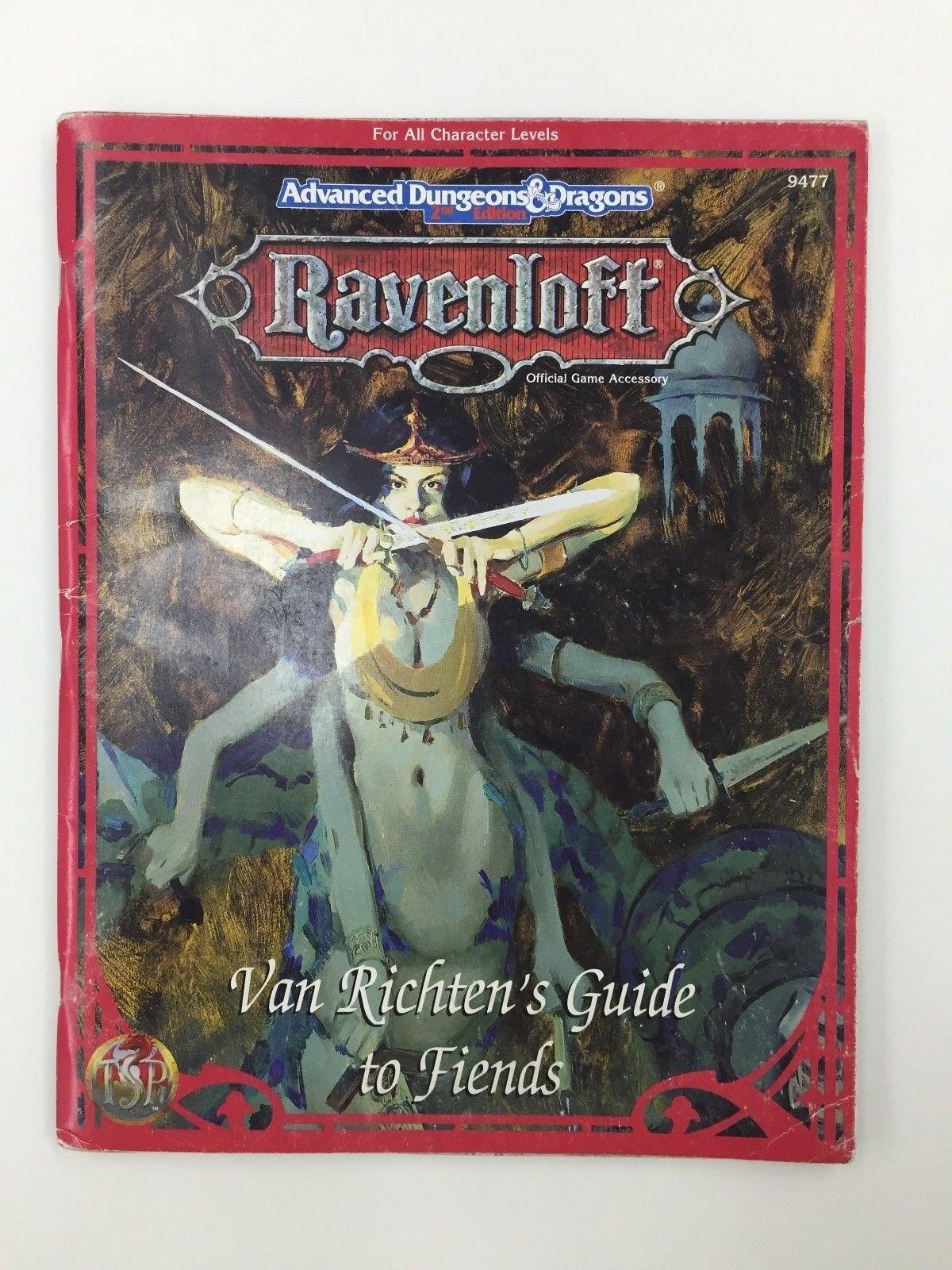 TSR ADVANCED DUNGEONS & DRAGONS DRAGONS DRAGONS RAVENLOFT VAN RICHTEN'S GUIDE TO FIENDS 9477 5ccdbe