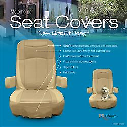 american motorhome rv captains chairs cream leather effect seat rh ebay co uk