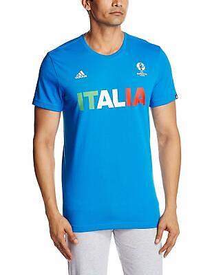Italy Ci T Shirt Tee Top Short Sleeve Football Sports Mens adidas