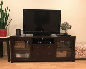 Pottery Barn Media Cabinet Armoire Tv Console Espresso 65