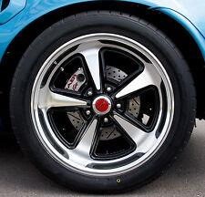 17x8 17x9 18x8 18x9 Pontiac Rally II Cast Wheels SET + CAPS Fit Chevy Also