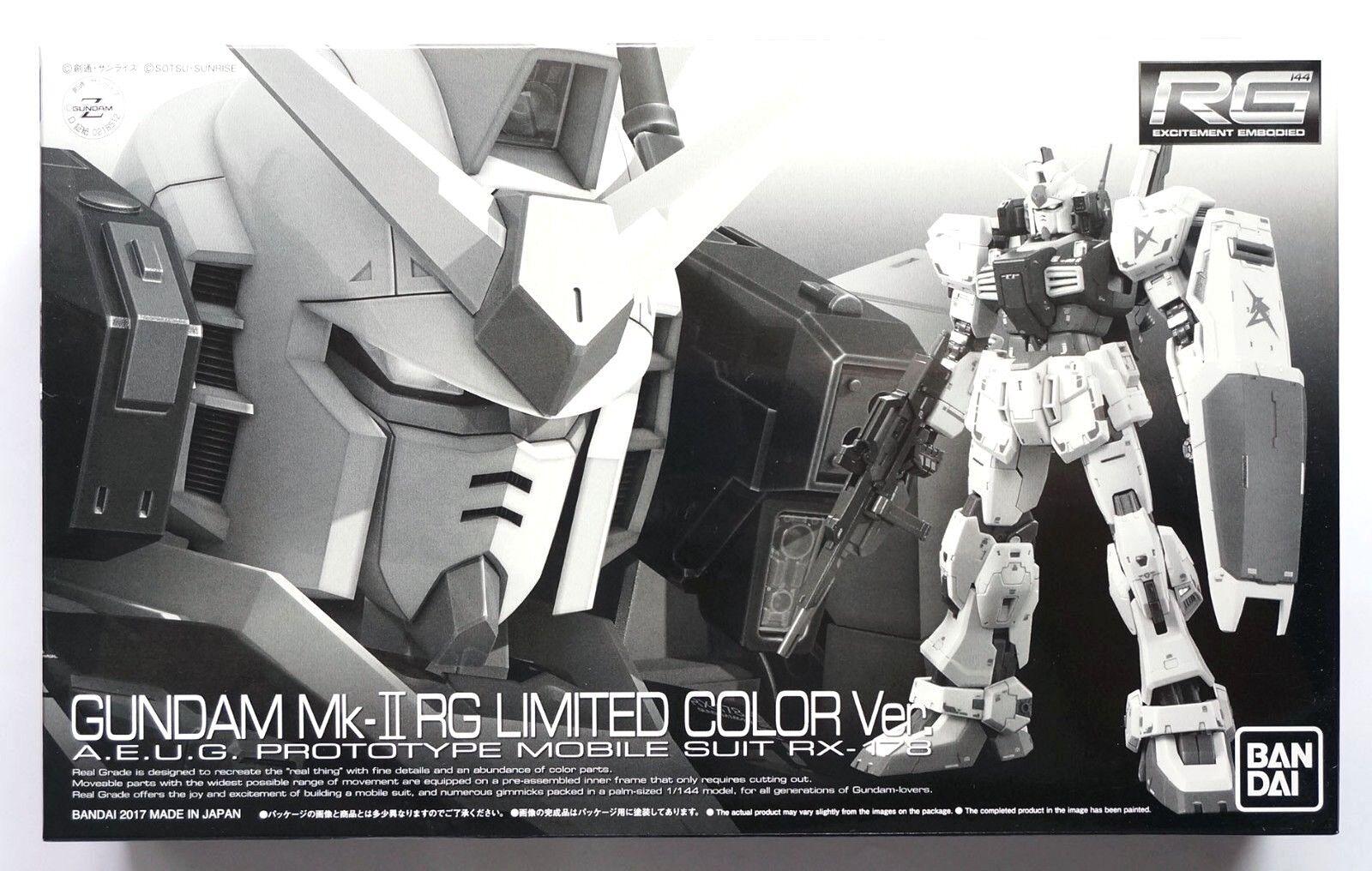 BANDAI RG 1  144 Gundam Mk -II AEUG RG begränsad färgver.Premium Bandai modellllerlkit