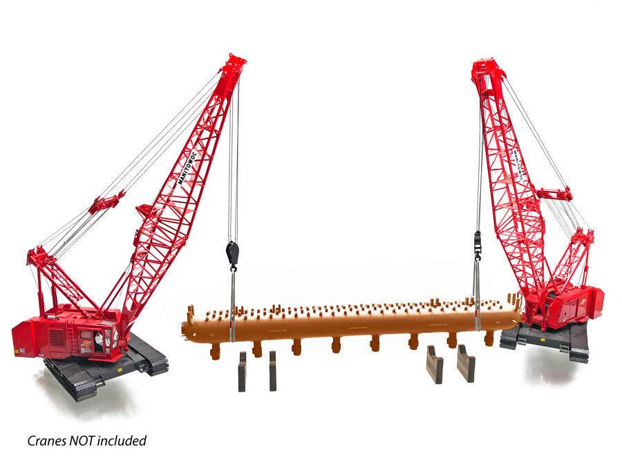 NEW Baustelle Repliken Steam Drum Load - rojo w Lifting Kit & Stands 1 50 MIB
