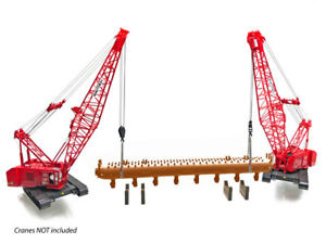 NEW-Baustelle-Repliken-Steam-Drum-Load-Red-w-Lifting-Kit-amp-Stands-1-50-MIB