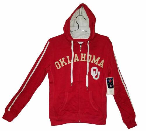 Oklahoma Sooners Red Full Zip Sweatshirt w// Hood Size L NWT $49.99